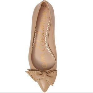 Sam Edelman Raisa Leather Pointed Toe Flat Nude 7